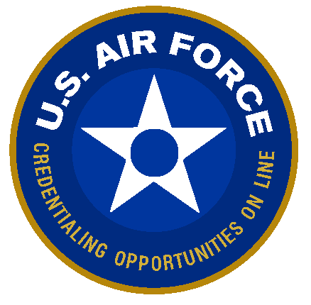 U.S. Air Force Credentialing Opportunity On Line (COOL) Program Logo